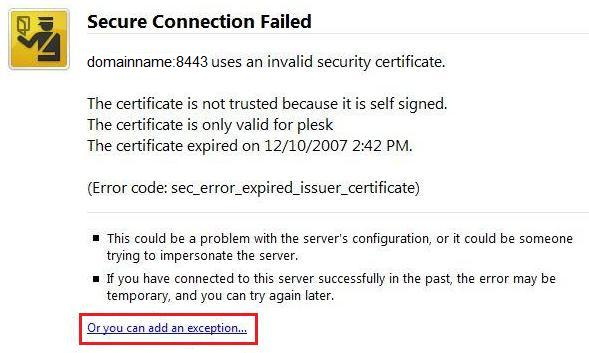 Plesk Control Panel Certificate Error | AskNetInfo